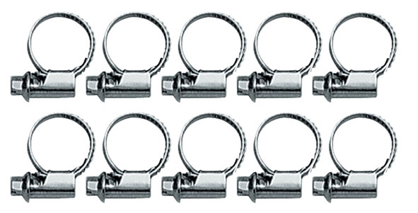 Tubing clamps 10...16 mm, set of 10