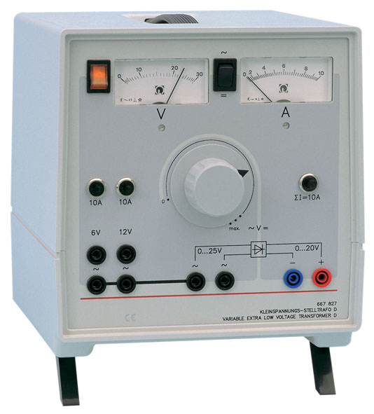 Variable extra-low voltage transformer D