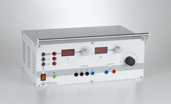 Three-phase voltage supply 400 V/2.5 A