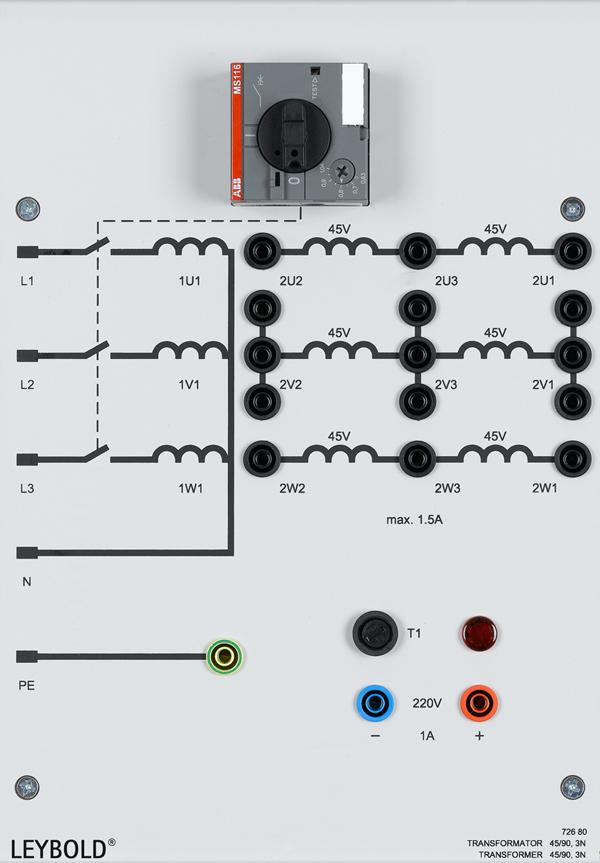 Transformer, 45/90, 3 N