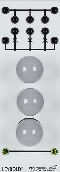 Lamp sockets E14, set of three