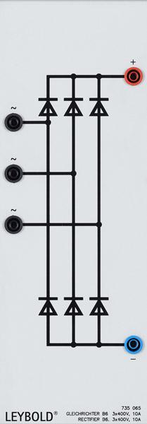 Rectifier B6, 3 x 400 V/10 A