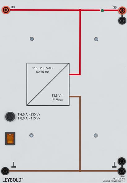 Automotive power supply 13.8 V/36 A