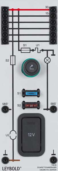 12 V on-board socket