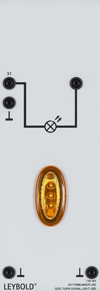 Side turn signal light LED