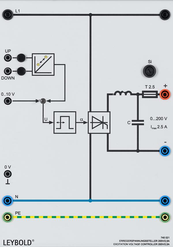 Excitation voltage controller 200 V/2.5 A