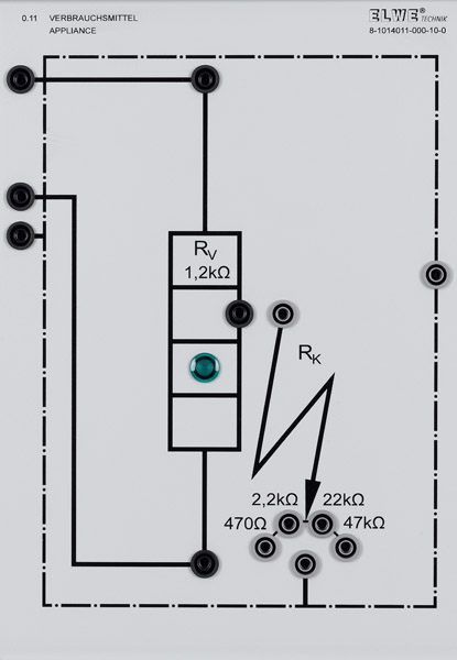 p 0 11 appliance with resistors for short circuit simulation