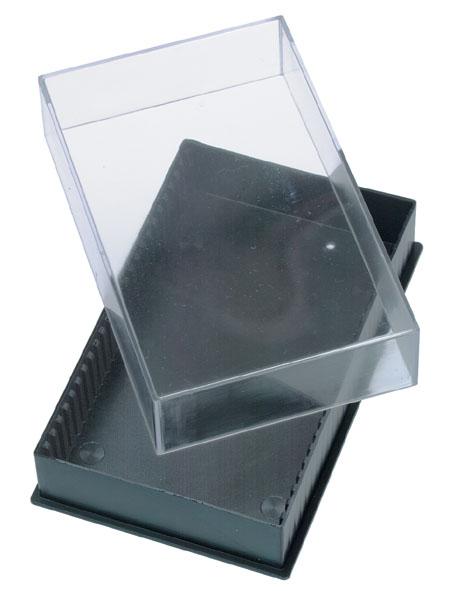 Plastic box for 25 microscopic slides
