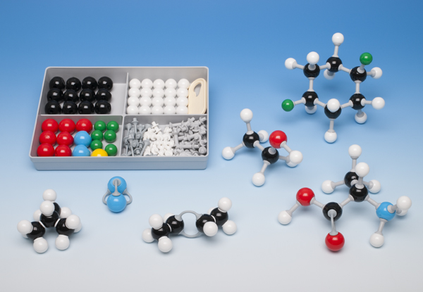Molecule building set for students, introductory