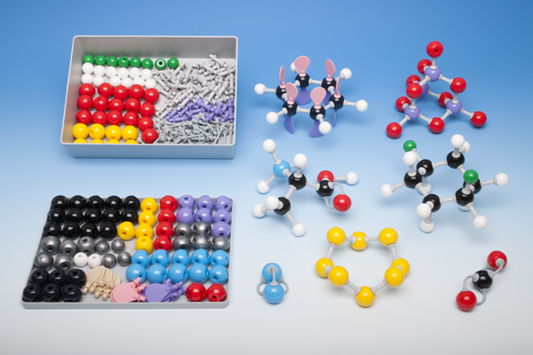 Molecule building set for teachers, inorganic, organic