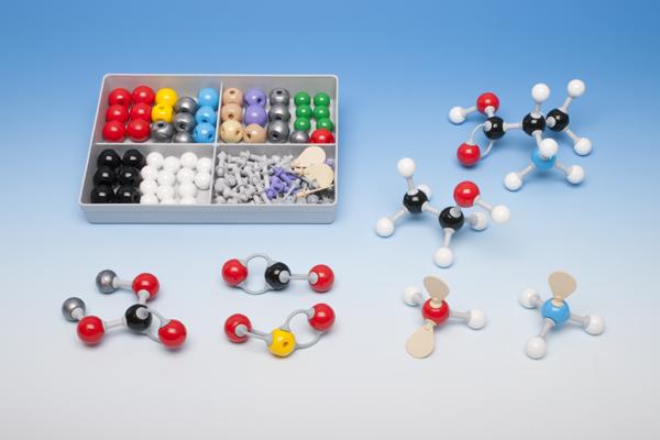 Molecule building set for students, inorganic/organic