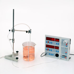 Pressure due to weight of water - Measurement using Sensor-CASSY and CASSY-Display