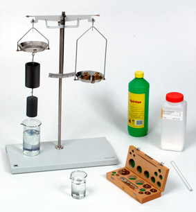 Archimedes' principle - Measurement with a hydrostatic balance