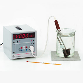 Electrical work done by an immersion heater - Joulemeter and wattmeter