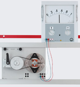 Rotating armature generators for generating alternating voltage  - Measurement via demo multimeter