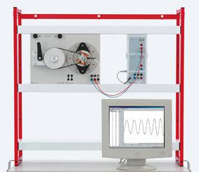 Rotating armature generators for generating alternating voltage  - Measurement via Sensor-CASSY