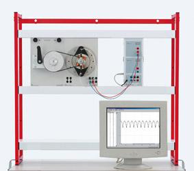Rotating armature generators for generating DC voltage  - Measurement via Sensor-CASSY
