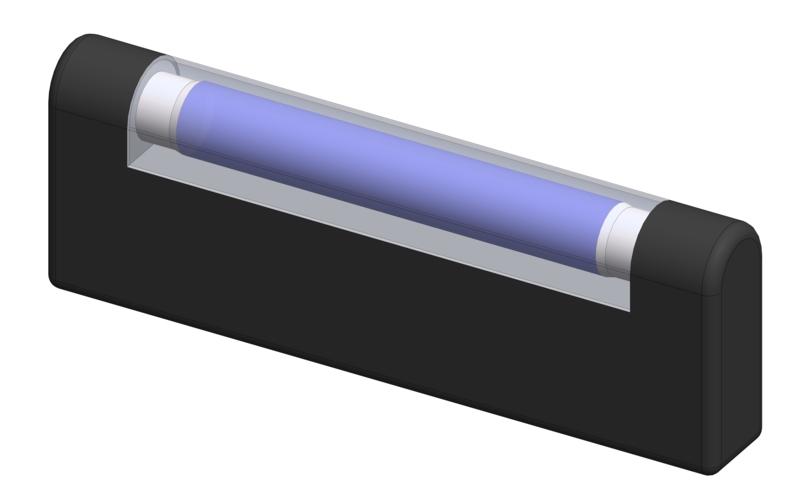 Simulation of proper hand hygiene using UV radiation