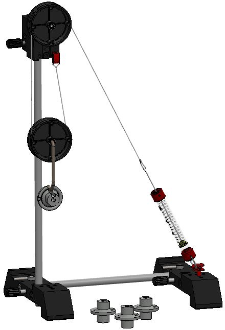 Hoist with two pulleys