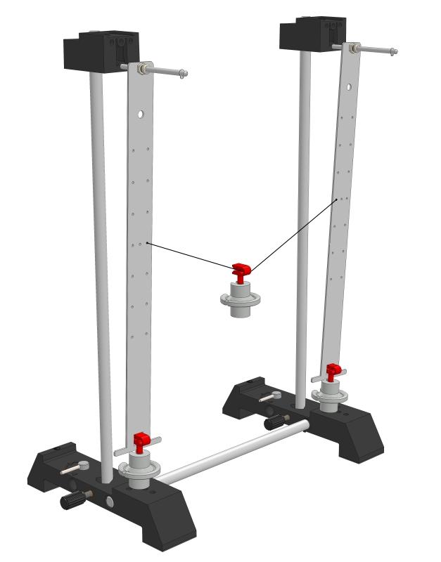 Oscillations on a mechanically coupled bar pendulum - Digital