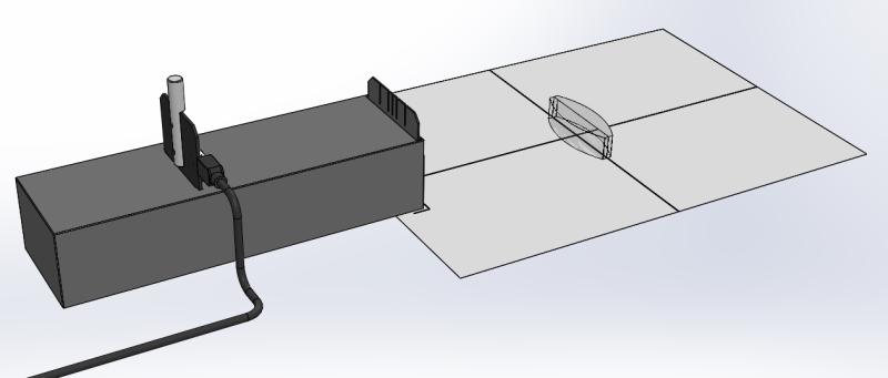 Optical path of a bi-convex lens