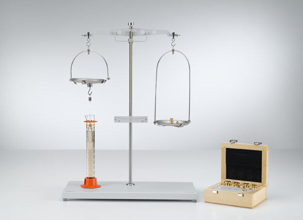Determining the density of liquids using the plumb bob
