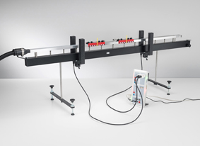 Energy and linear momentum in elastic and inelastic collision on the linear air track - Measuring with two forked light barriers and CASSY