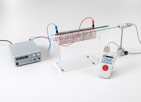 Measuring the magnetic field of an air coil