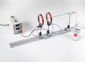 Measuring the magnetic field of a pair of coils in the Helmholtz configuration