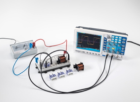 Measuring the current in a coil when switching DC on and off