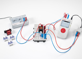 Measuring the current in a coil when switching DC on and off - Measuring with Mobile-CASSY