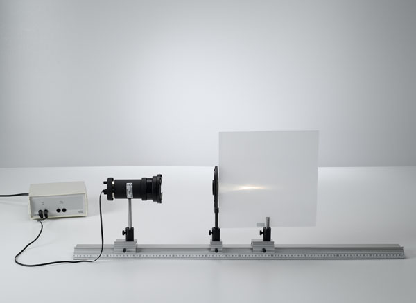 Determining the focal lengths at collecting and dispersing lenses using collimated light