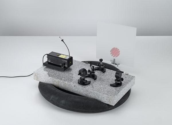 Setting up a Michelson interferometer on the laser optics base plate
