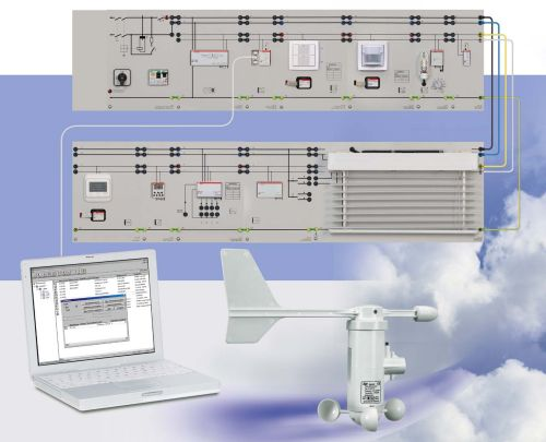 Lighting management by EIB/KNX with ETS software