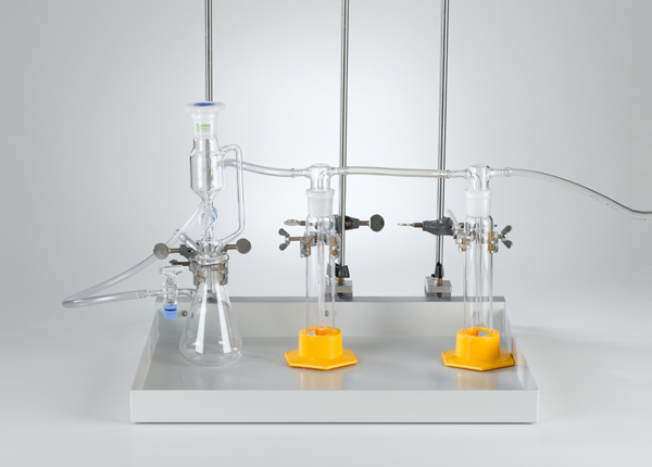 Production of gases with a dropping funnel