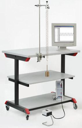 Recording the oscillation of a spring pendulum – Recording using Sensor-CASSY